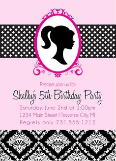 12 Best Barbie Birthday Invitations Images