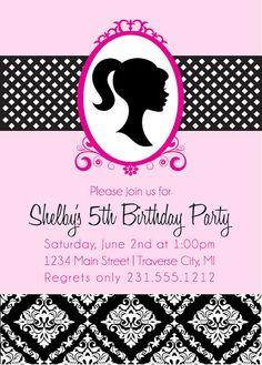 Invitaciones de cumpleaños de Barbie fiesta por AnnounceItFavors