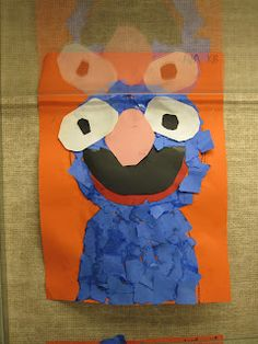 Grover paper collage -Kindergarten