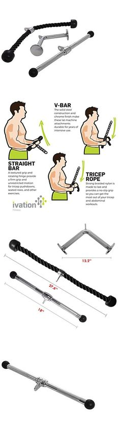 Home Gyms 158923: Ivation Lat Machine Exercise Equipment – Tricep Rope, V-Bar, And Straight Bar -> BUY IT NOW ONLY: $34.99 on eBay!