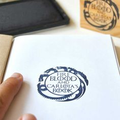 Custom bookplate stamp Game of Thrones. Nerdy gifts. Geeky gifts. Original personalized bookplates Game of Thrones. Geeky bookplate stamp.
