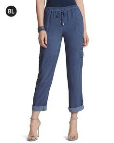 Chico's Women's Black Label Cool Pigment Cargo Pants