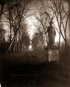 Another one of Atget's photos, this one at the Parc de Sceaux - Eugène Atget Fine Art Photography, Street Photography, Landscape Photography, Photography Music, Photos Du, Old Photos, Paris Photos, Versailles, Eugene Atget