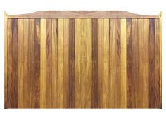Sliding Gates in Iroko Hardwood - The Abbeywood design. Constructed in the UK using the finest hand selected timber.