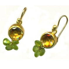 Citrine & Gold Earrings