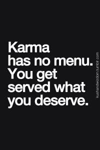 karma has no menu