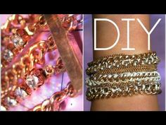 DIY Arm Party! Multi Chain Link Bracelet