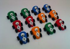 Miniature Race Cars in Edible Fondant for your by craftyrosy, $24.00