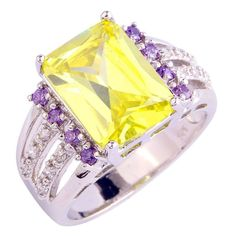 Fashion Wholesale 925 Silver Ring Green Amethyst Size 10 Women Rings New Arrivel Jewelry Free Shipping