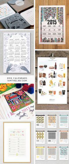 2015 Handmade Modern Calendars via iamthelab.com