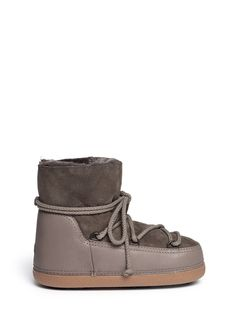 IKKII - 'Classic Low' lambskin shearling boots | Brown Ankle Boots | Womenswear | Lane Crawford