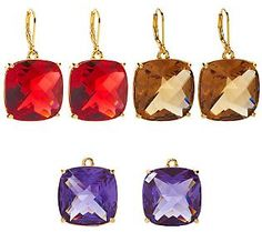 Joan Rivers Timeless Trio Set of 3 Interchangeable Earrings QVC $28.80