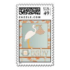 Haiku Baby Invite Stamp