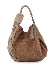 Two-Tone Hobo Bag, Dark Ash by Halston Heritage at Neiman Marcus.