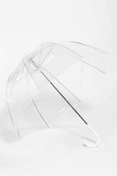 Clear Bubble Umbrella!! Hang pink ribbon from it to let Christmas bulbs dry