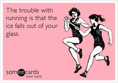 The trouble with running...