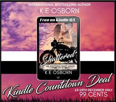 ¸.•*¨)💔¸.•*´¨)💀¸.•*´¨) 💔(¸.•´ 💀 99¢ Sale! 💔  #BadassBikerAlert 💀¸.•*´¨) Shattered (Shattered Heart, #1) by K.E. Osborn  #KindleCountdown #SALE  ➜ Grab it before it goes back to $2.99 after the weekend!  💔 Amazon: http://geni.us/NxAtEq