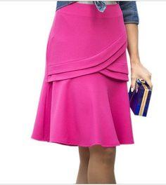 linda saia rosa com recortes