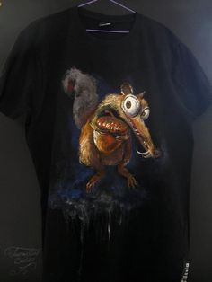 Painted Scrat Mens Tops, T Shirt, Fashion, Supreme T Shirt, Moda, Tee Shirt, Fashion Styles, Fashion Illustrations, Tee