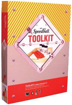 This Fabric Screen Printing Tool Kit from Speedball contains almost everything you need to get start screen printing except for an idea and some ink.