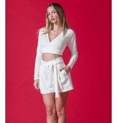 Κρουζέ Crop Top Ελαστικό με Μακριά Μανίκια - Λευκό Short Dresses, Women, Fashion, Short Gowns, Moda, Women's, Fashion Styles, Woman, Fasion