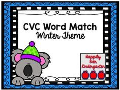 What's Included:CVC Picture / Word Match Corresponding Worksheet with CVC Words . Primary Resources, Teaching Resources, Kindergarten, Easel Activities, Unit Plan, Cvc Words, Interactive Notebooks, Winter Theme, Task Cards