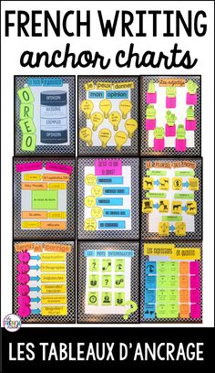 French classroom decor - French anchor charts for writing les tableaux d'ancrage – French classroom decor French Teaching Resources, Teaching Spanish, Spanish Activities, Teaching Time, Work Activities, Teaching Reading, High School Activities, Spanish Teacher, French Classroom Decor