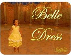 Handmade Dress Up Series: DIY Belle Princess Dress Costume Tutorial - Andrea's Notebook