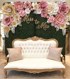 """""""Dusty Pink and Champagne Gold flowers makes a stunning backdrop for this bridal shower (signage…"""" Bridal Shower Signage, Bridal Shower Backdrop, Bridal Shower Photos, Elegant Bridal Shower, Gold Bridal Showers, Bridal Shower Decorations, Wedding Decorations, Wedding Centerpieces, Party Decoration"""