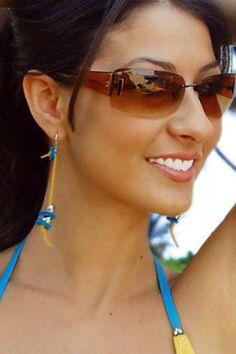 Leather Beads Dangles Earrings