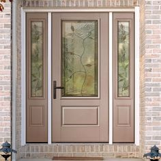 ThermaTru 80 SmoothStar fiberglass doors with clear glass and