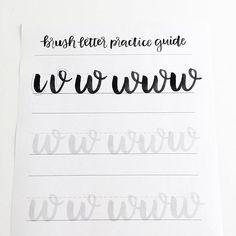 Learn brush lettering with the Brush Letter Practice Guide at http://shop.randomolive.com/brushpractice?utm_content=bufferc9a72&utm_medium=social&utm_source=pinterest.com&utm_campaign=buffer #brushlettering #brushscript