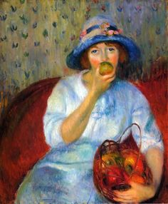 Girl with Green Apples 1911 Impressionist Painter William McGregor Paxton (1869-1941)