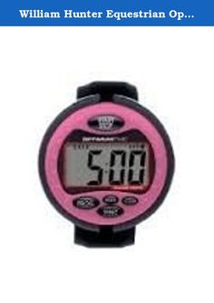 William Hunter Equestrian Optimum Time Event Watch - Pink - An Easy To Use Eventing Watch - Large Clear Display Screen - Perfect For British Eventing Competitions - Counts Up & Down - Alarm. An easy to use eventing watch featuringa large clear LCD display screen with bold digits in a compact and comfortable design. Counts up and down and has an alarm feature.