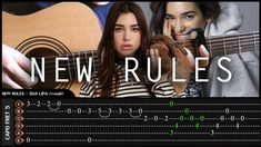 DUA LIPA - NEW RULES - Cover (Fingerstyle Cover) + TAB Tutorial (Lesson)...