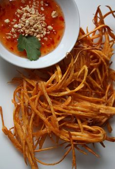 crunchy sweet potato nests