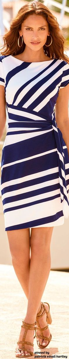 The cut and stripes are very figure flattering