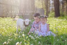 Easter/Spring mini session with lambs! Www.kaylamathews.com