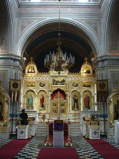 The iconostasis of Tampere Orthodox Church, Finland