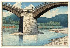 "Kawase Hasui - Kintaikyo Bridge, Suo from ""Scenes from Travels III"" - Modern Prints - Ukiyoe Gallery SHUKADO"