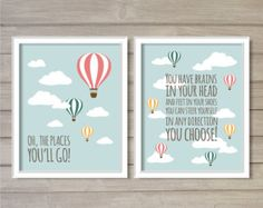 Dr. Seuss Quote Kid You'll Move Mountains Nursery by FebruaryLane