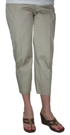 Women's Favorite Crop with Pocket Detail in Natural by Tribal - 10 [Apparel] Tribal. $34.62