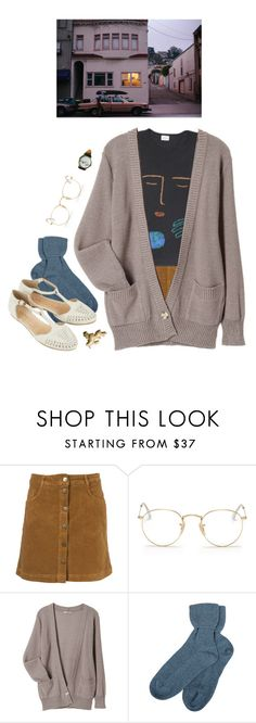 """rest"" by paper-freckles ❤ liked on Polyvore featuring Ray-Ban, Brora and Topshop"