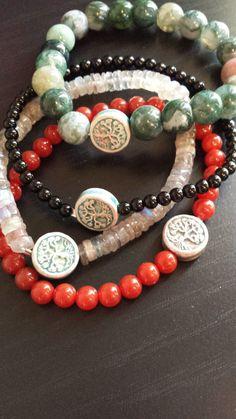 Tree of Life Stretchy Beaded Bracelet, Yoga Inspired Stretch Bracelet