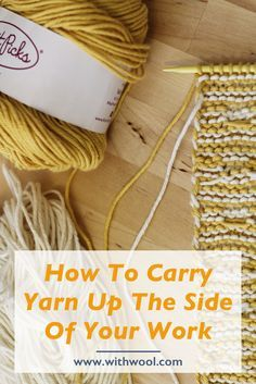 Stripes and Carrying Yarn Up The Side