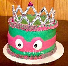 Teenage Mutant Ninja Turtle birthday cake for an adorable little