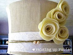 pretty drum shade makeover from Raising up Rubies ♥