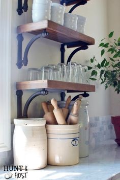 An Unexpected Friend: French Country Home Tour accessories rustic French Country Home Tour - Salvaged Living French Country Kitchens, French Country Bedrooms, French Country Farmhouse, French Country Style, French Cottage, Farmhouse Kitchens, Small Kitchens, Modern Farmhouse, Country Kitchen Designs