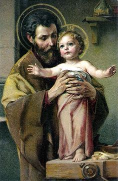 The Holy Family - St Joseph  Fathers are VERY IMPORTANT, so God Himself chose a great one for His Only Begotten Son, Jesus!