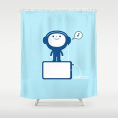 Music in mind Shower Curtain by simon oxley idokungfoo.com - $68.00